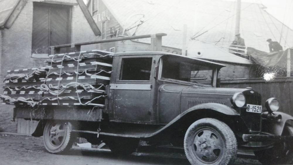Redningsflåtene på bil - original avfotografert