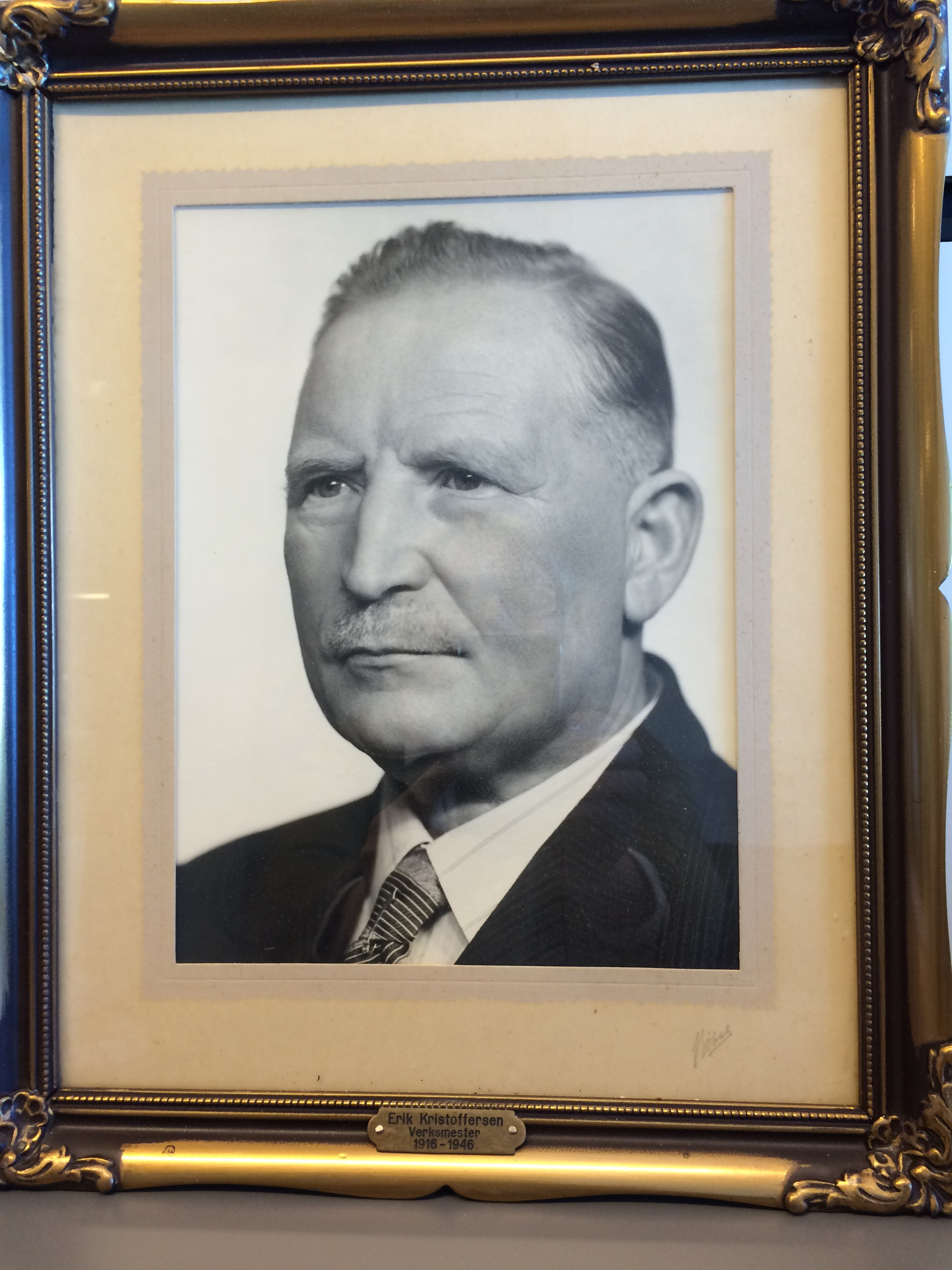 Erik Kristoffersen verksmester 1916-1946